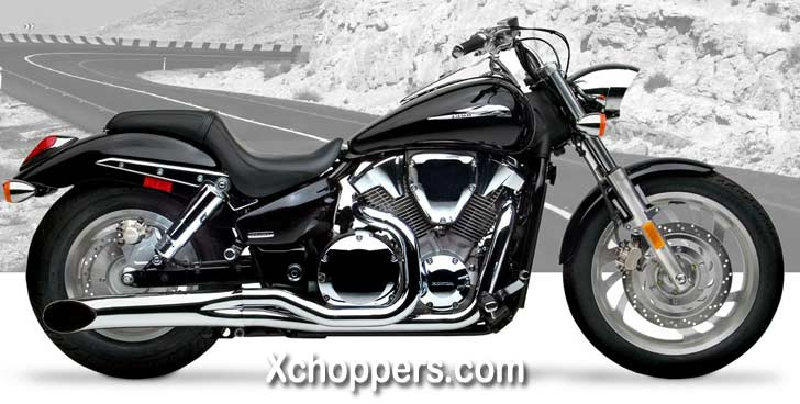 Hard Krome Chrome Sideburners - VTX 1300 C