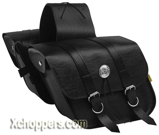 Willie and Max Deluxe Compact Slant Saddlebag
