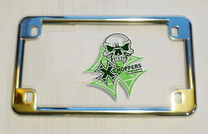 "Chrome 4"" x 7"" Chrome License Plate Frame"
