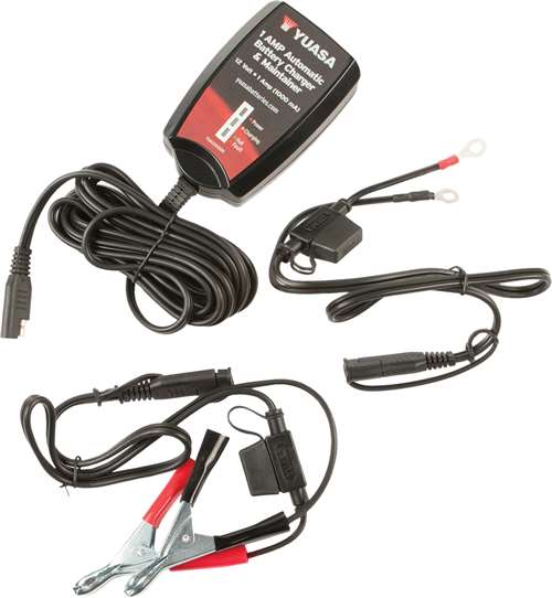 Yuasa Automatic Battery Charger and Maintainer (12 Volt/ 1 Amp)