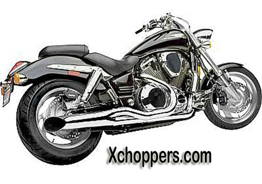 Hard Krome CHROME Sideburners for VTX 1800 C (2002-2007)