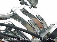 Aeromach Chrome 6 inch Pullback Risers for Honda Cruisers