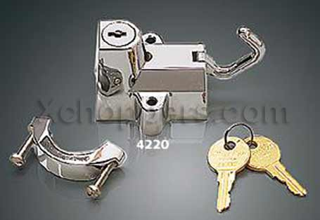 "Chrome Universal Helmet Lock for 7/8"" to 1-1/4"" Tube (ea)"