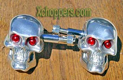 "Skull Signal / Marker Lights (pair) - LED ""Eyes"" in 4 colors!"