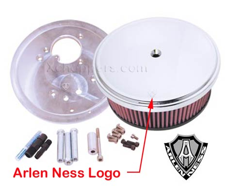 Arlen Ness Big Sucker Kit, Chrome Steel Cover, Smooth - VTX 1300