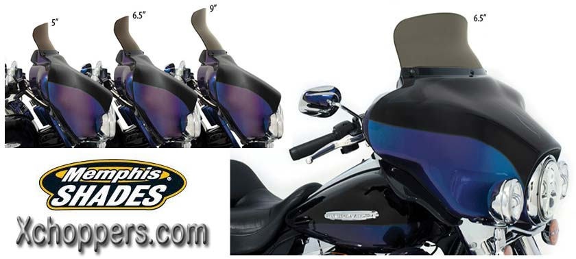 Memphis Shades Spoiler Windshield for Memphis Shades Batwings