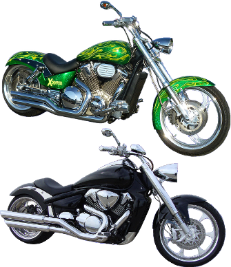 XChoppers Parts for Honda VTX1800, VT1300, Fury, Suzuki M109 and ...